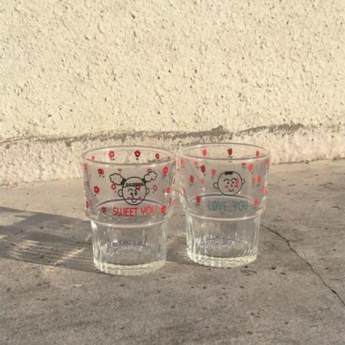 [dailylatte] 꽃밭소년소녀 glass