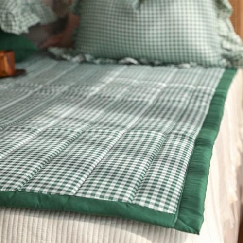 체크데이 누빔 미끄럼방지 침대패드(SS/Q)-5color