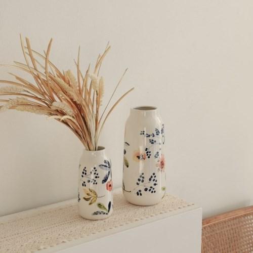 레트로감성 잔잔꽃송이 도자기화병