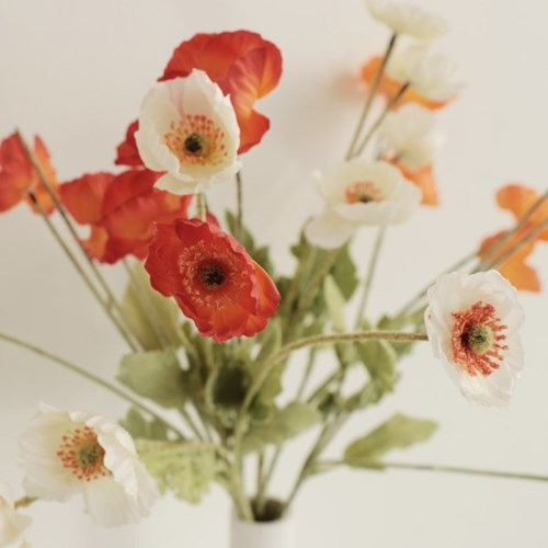 플르다 디어 양귀비 감성 인테리어 조화 꽃장식