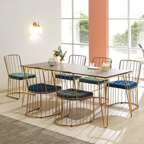 [데코마인] 디아르 세라믹 1700 6인용 식탁 테이블