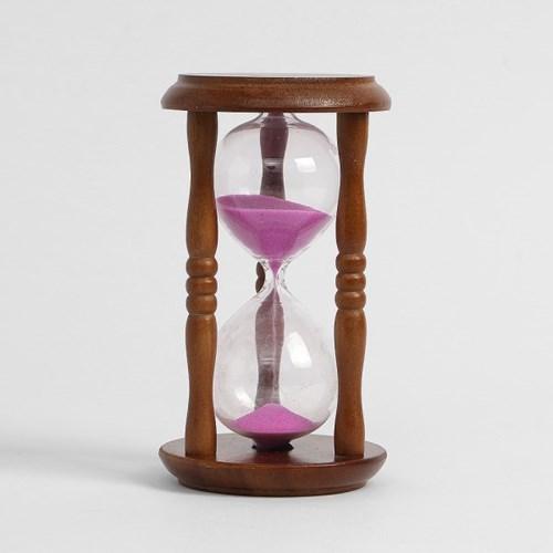 클래식 유리 모래시계 5분 인테리어 타이머
