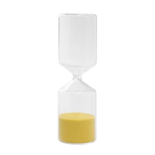 유리 인테리어 모래시계(옐로우) 15분 타이머