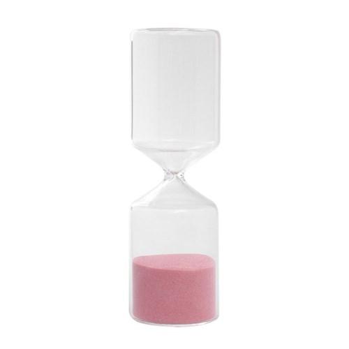 유리 인테리어 모래시계(핑크) 30분 장식품 타이머