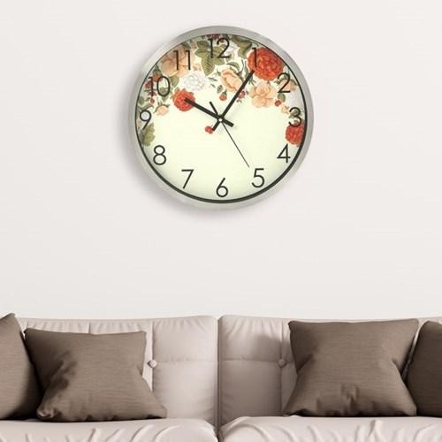 파인아트 플라워 원형 벽시계 / 아날로그벽시계