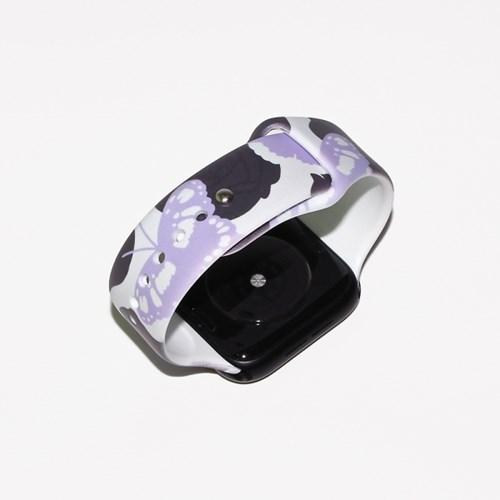 나비 정원 애플워치 실리콘 스트랩