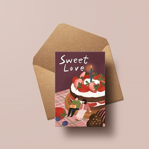 캘리엠 HH3520_SweetLove 캘리그라피 카드