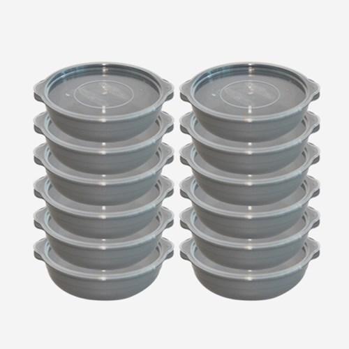 심플쿡 전자레인지 보관용기 2호 (450ml) 12P 2color