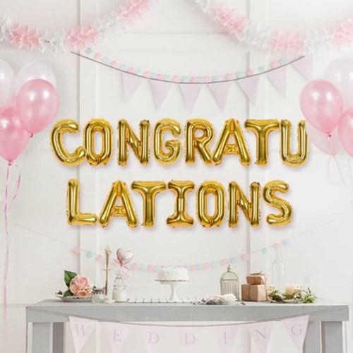 축하문구 은박풍선세트 CONGRATULATIONS