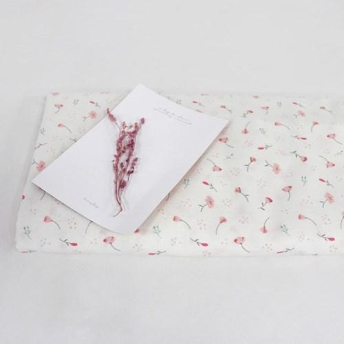 [Fabric] 캔디플라워 화이트 코튼