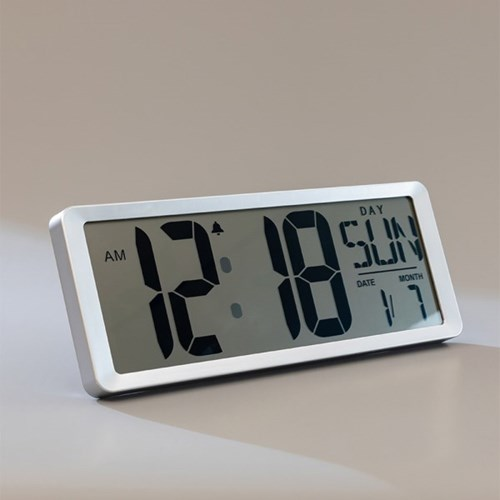 왕건이 큰숫자 스크린 LCD 디지털 시계 온도계 달력