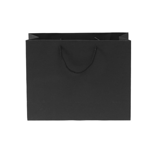 무지 가로형 쇼핑백(블랙)(43x32cm)