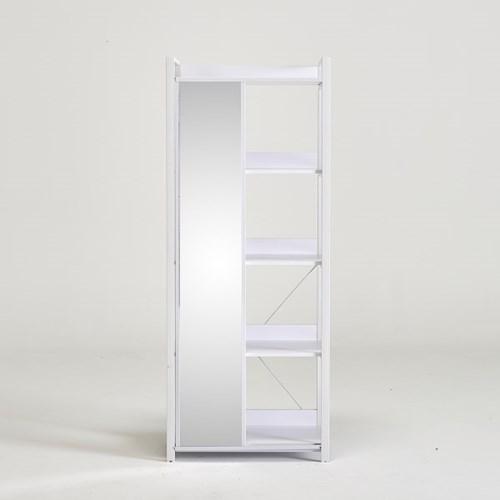 라자가구 오브 버츠 철재 800 거울 슬라이딩 선반장 BR8827