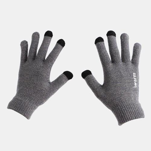 남성 논슬립 터치 니트장갑(믹스그레이)/ 겨울장갑