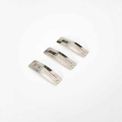 사각 똑딱이 니켈 도금 헤어핀 머리핀(50mm / 5개)