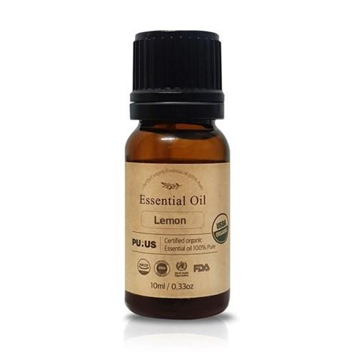 퓨어스 유기농 레몬 에센셜 오일 100%