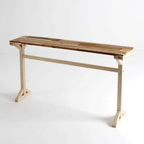 좁고긴 원목 슬림 사이드 테이블 1200