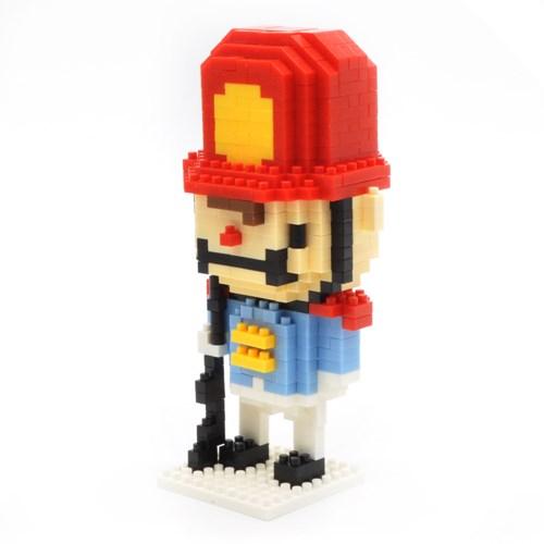 나노블럭 빨강 모자 병정
