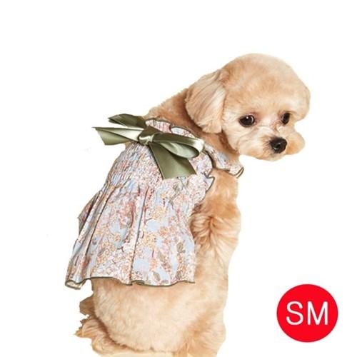 강아지 로코코 고무밴드 원피스 그린 SM