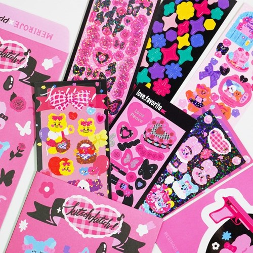 [텐바이텐단독]뽐뽐x메리로제 블랙&핑크 키치팩