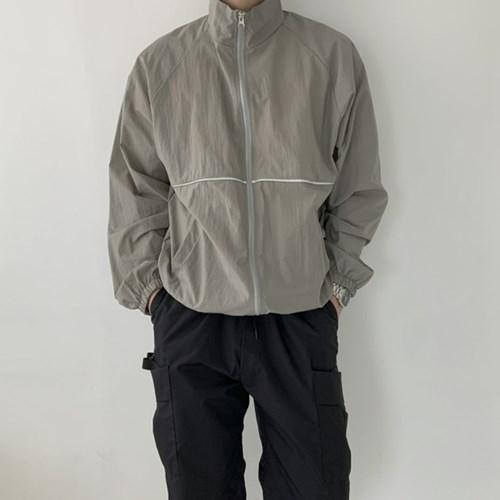 봄 남성 오버핏 바스락 라인배색 하이넥 바람막이 점퍼