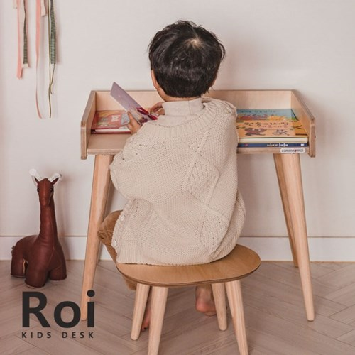 [꼬메모이] 로이 책상 / 자작나무 유아 어린이 키즈 테이블 공부상