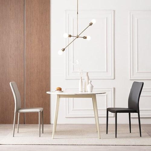 우유니 U89 대리석 원형 2인 식탁세트(의자)