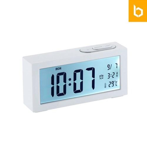 유즈비 화이트앵글 LCD 탁상시계 무소음 시간