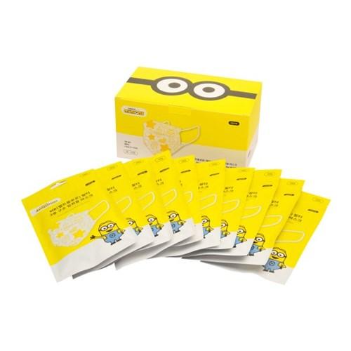 미니언즈 어린이 마스크 소형 국내생산 한정판 5매