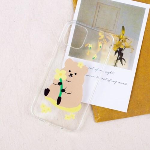 [SET]노랑꽃쿼카 젤리케이스&톡