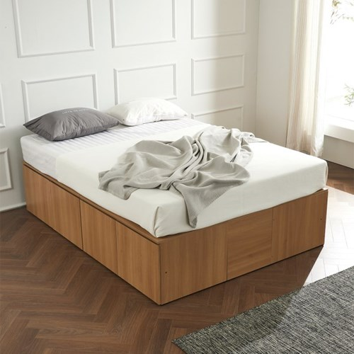 우앤 대용량 도어형 높은침대 침대Q+본넬 매트리스