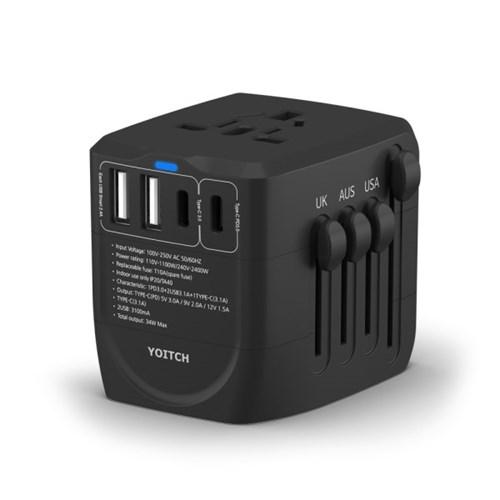 유니티PD 34W 여행용 해외전용 USB C타입 PD 4포트 고속 멀티 충전기