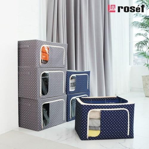 [4개세트] 로제프 에뚜왈 대용량 리빙박스 56LX4P (그레이,네이비)