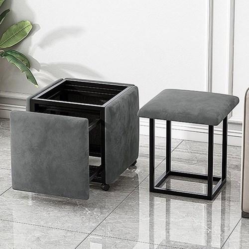 하스민퍼니처 콤바인스툴 공간활용가구 인테리어의자