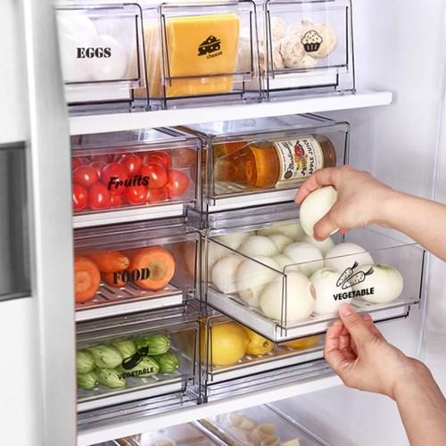 [리본제이]리메이크 모듈형 냉장고 서랍 L+L 2P세트
