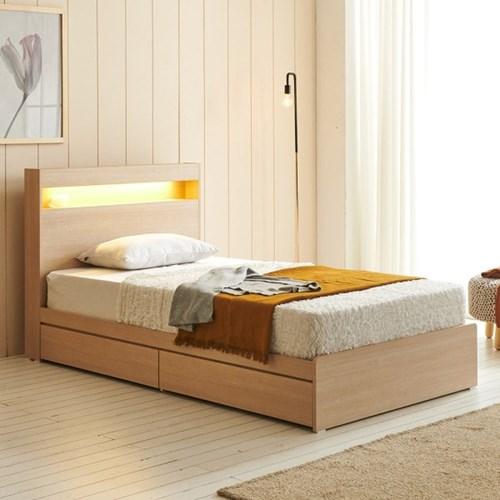 에프리 LED침대 서랍형 슈퍼싱글+본넬 매트리스