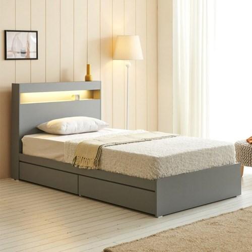 에프리 LED침대 서랍형 슈퍼싱글+독립 매트리스