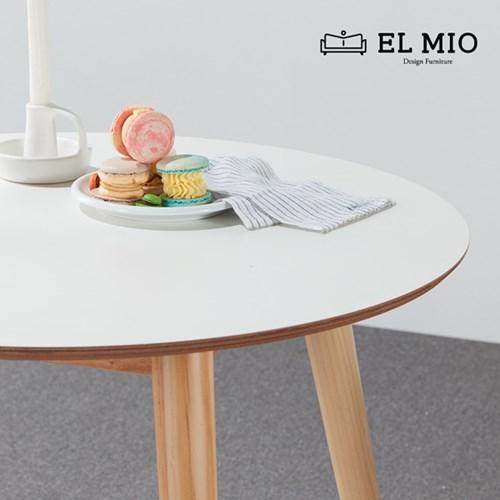 [디자인가구 엘미오]원목 원형 테이블 비앙코 1인~2인