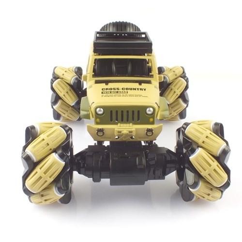 크라토스 4륜구동 드리프트 레이싱 메카넘 휠 옐로우 RC카