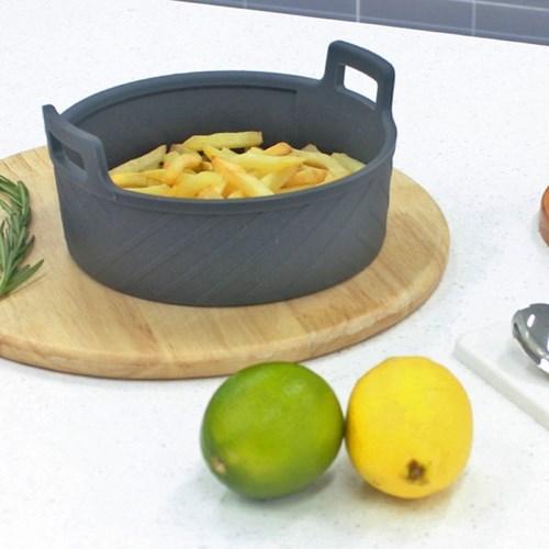 실리콘 에어프라이어 원형 용기 그릇 중 18cm 2개