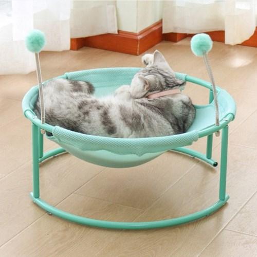 잠이 솔솔 고양이 해먹침대!