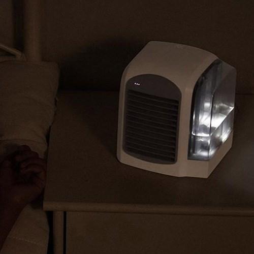 3단 풍속 냉각 탁상용 유선 LED 미니 쿨 냉풍기