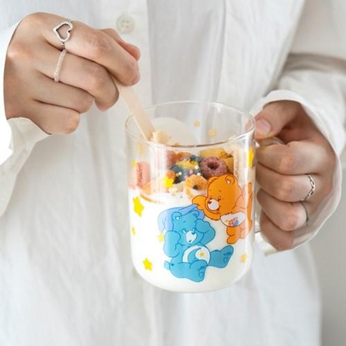 루카랩 케어베어 손잡이 유리컵