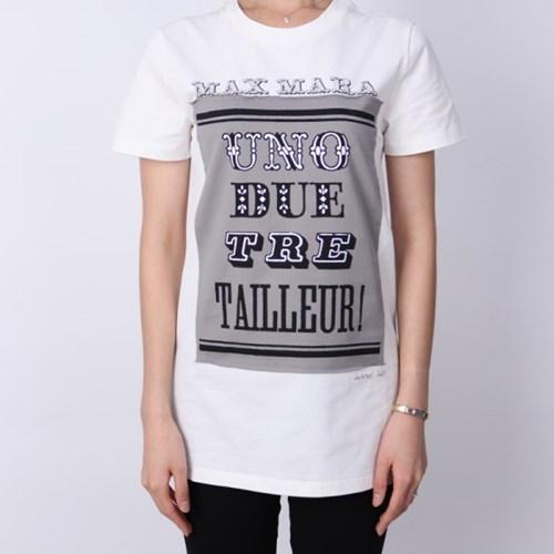 21FW 막스마라 POLO 프린팅 티셔츠 (화이트) POLO WHITE