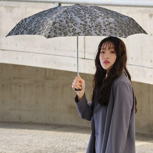 wpc우산 브러쉬 레오파드 미니 5단 양산 겸 우산 1959-181