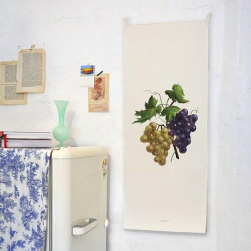 watercolor fruit/수채화 과일 C 세로형 패브릭 포스터 / 바란스커튼