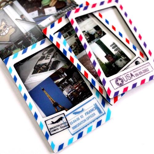미니 자석 액자 프레임 4p SET - Vintage Stamp