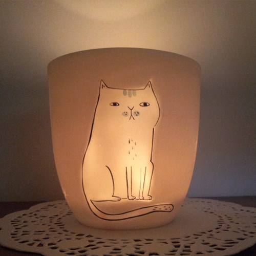 티라이트 캔들홀더(고양이)