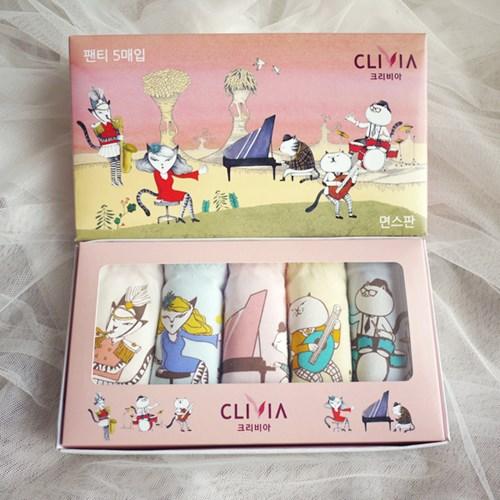 기기묘묘 시리즈 고양이 요일팬티