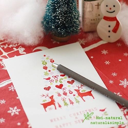 [크리스마스 스탬프엽서]러브사슴